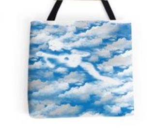 La guitariste dans les nuages